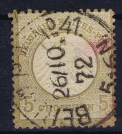 Deutsches Reich: Mi Nr 6  Gestempelt/used/obl.  Kleiner Brustschild - Germany