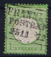 Deutsches Reich: Mi Nr 7  Gestempelt/used/obl.  Kleiner Brustschild - Oblitérés