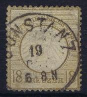 Deutsches Reich: Mi Nr 11 Gestempelt/used/obl.  Kleiner Brustschild  No Fold Is Hinge - Duitsland