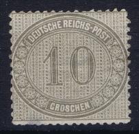 Deutsches Reich: Mi Nr  12 MH/* Has A Thin Spot