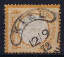 Deutsches Reich: Mi Nr  14 Used 1872  Hufeisenstempe Kiel - Gebraucht