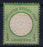 Deutsches Reich: Mi Nr  17 B  MH/* Grosser Brustschild  Signiert /signed/ Signé - Ungebraucht