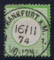 Deutsches Reich: Mi Nr  23 A Used  Signiert /signed/ Signé / Certificate Hennies Grosser Brustschild - Gebraucht