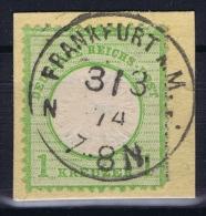 Deutsches Reich: Mi Nr 23 A  Used   Grosser Brustschild - Oblitérés
