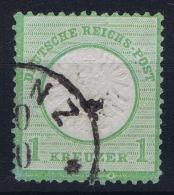 Deutsches Reich: Mi Nr 23 B  Smaragdgrün  Used   Grosser Brustschild - Germany
