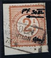 Deutsches Reich: Mi Nr 30 Used Plattefehler III  Kerbe In Innerkrans CV € 900   1874 - Germany