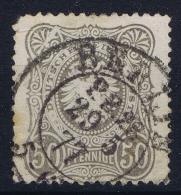 Deutsches Reich: Mi Nr 36  Plattefehler  P III  Weisser Keil Used 1875