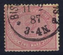 Deutsches Reich: Mi Nr 37 B Lebhaftrosalila Used - Gebraucht
