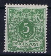 Deutsches Reich: Mi Nr 46 B MH/*  Gelblichgrün