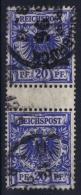 Deutsches Reich: Mi Nr 48  Used Zwischenstegpaare