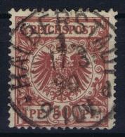 Deutsches Reich: Mi Nr 50 A Used  BPP Signiert /signed/ SignéWiegand - Gebraucht