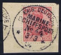Deutsches Reich:  Marine Schiffspost, Nr 44 SMS Tiger, 1904