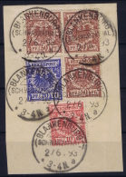 Deutsches Reich:  3-color Franking On Part Letter