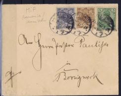 Deutsches Reich:  3-color Franking On  Letter