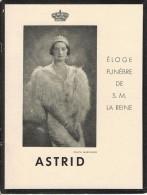 Eloge Funèbre De La Reine Astrid AS0090 - Livres, BD, Revues