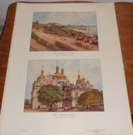 Ukraine. Kiew. Les Bords Du Dniépre Et L'église De La Lavra.  Photogravure. 1914. - Ucraina