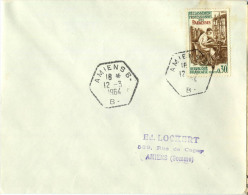 CACHET RA AMIENS B SOMME 1964 - Postmark Collection (Covers)