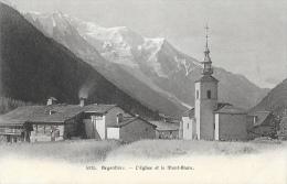 Argentière - L'Eglise Et Le Mont-Blanc - Edition Wehrli - Carte Non Circulée - Francia
