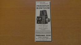 PHOTOGRAPHIE - APPAREIL PHOTOS - PRIMARFLEX BENTZIN -ETABLISSEMNT UNION - PIERRE LEMONNIER -PARIS - 1938 - Publicités
