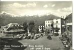 Barzio (Lecco, Lombardia) Valsassina, Piazza Garibaldi E Albergo Stella, Animata E Auto - Cars, Grigna Sullo Sfondo - Lecco