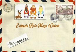 ANDORRE. Lettre (texte En Catalan) Aux ROIS MAGES, Avec Oblitération Ronde - Christmas