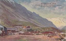 POSTAL DE CHILE DE LA POSADA EL JUNCAL (DE BUENOS AIRES A VALPARAISO VIA CORDILLERA) - Chile