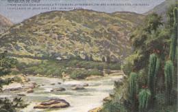 POSTAL DE CHILE UNION DE LOS RIOS ACONCAGUA Y COLORADO (DE BUENOS AIRES A VALPARAISO VIA CORDILLERA) - Chile