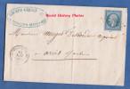 Facture Ancienne / Marque Postale - ROMILLY Sur SEINE ( Aube ) - Maison Ricard Girost Fabrique Bonneterie - 16 Mai 1863 - Poststempel (Briefe)