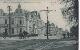 POSTAL DE SANTIAGO DE CHILE DE EDIFICIOS AL COSTADO SUR DE LA ALAMEDA DE LAS DELICIAS DEL AÑO 1910 - Chile