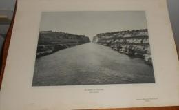 Grèce. Le Canal De Corinthe.  Photogravure. 1914. - Greece
