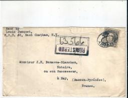 Enveloppe  -  Cachet  Au  Depart  De  Jersey' City  -  NEW YORK  (  U.S.A  )  à  Destination  De  NAY  ( 64 ) - Amérique Centrale