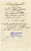 PARIS 10  ORFEVRES  CAILAR BAYARD   FACTURE 1925 - Artesanos