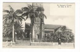 B. W. I.  ( British West Indies ) /  ST.  KITTS  ( SAINT-KITTS ) /  SAINT-GEORGES ' S  CHURCH  ( église Et Policeman ) - Vierges (Iles), Britann.