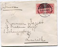 DANEMARK LETTRE DEPART KJOBENHAVN 27-4-03 POUR LA SUISSE - 1864-04 (Christian IX)