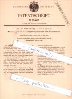 Original Patent  - G. Falconnier In Nyon , Schweiz , 1882 , Schankgeräthschaften !!! - Documents Historiques
