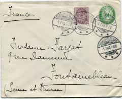 DANEMARK ENTIER DEPART CHARLOTTENLUND 1-7-03 POUR LA FRANCE - 1864-04 (Christian IX)