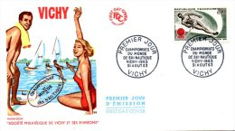 FRANCE. N°1395 Sur Enveloppe 1er Jour De 1963. Ski Nautique. - Water-skiing