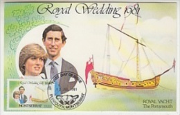 "Montserrat 1981 Royal Wedding Charles - Diana Royal Yacht ""The Portsmouth"" 1v Maxicard (´26647) - Montserrat"