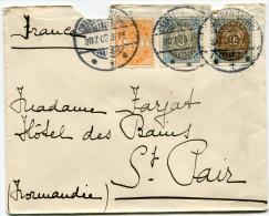DANEMARK LETTRE DEPART CHARLOTTENLUND 30-7-03 POUR LA FRANCE - 1864-04 (Christian IX)
