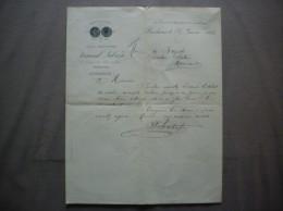 BORDEAUX FERNAND LABASSE CHEMISIER MAISON JULES DUMAS 46 COURS DE L'INTENDANCE & 2 RUE DU TEMPLE COURRIER DU 16/1/1904 - France