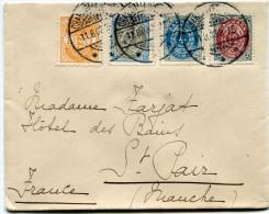 DANEMARK LETTRE DEPART CHARLOTTENLUND 11-8-03 POUR LA FRANCE - 1864-04 (Christian IX)