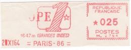 VIGNETTE D´AFFRANCHISSEMENT  EUROPE 1  PARIS 2 VII 64 - Non Classés