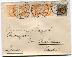 DANEMARK LETTRE DEPART CHARLOTTENLUND 11-8-03 POUR LA SUISSE - 1864-04 (Christian IX)