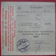 4010 Linz - Zahlscheinabschnitt 1918 Linz 1 - Poststempel - Freistempel