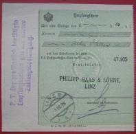 4010 Linz - Zahlscheinabschnitt 1918 Linz 8 - Poststempel - Freistempel