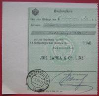 4043 Linz - Zahlscheinabschnitt 1918 Pöstlingberg - Poststempel - Freistempel
