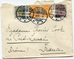 DANEMARK LETTRE DEPART CHARLOTTENLUND 3-8-03 POUR LA FRANCE - 1864-04 (Christian IX)
