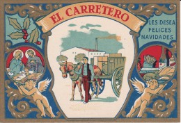 POSTAL DE FELICITACION DE EL CARRETERO LES FELICES NAVIDADES (NAVIDAD-CHRISTMAS) - Publicité