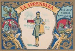 POSTAL DE FELICITACION DE LA APRENDIZA LES FELICES NAVIDADES (NAVIDAD-CHRISTMAS) - Publicité
