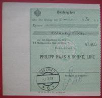 4040 Linz - Zahlscheinabschnitt 1918 Urfahr 1 - Poststempel - Freistempel